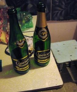 Empty Советское Шампанское in my kitchen!