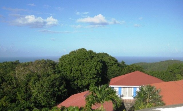 Our house has some stunning panoramic views of both the Atlantic and Caribbean.