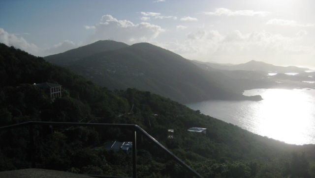 From on top of the mill you can see all the way down to the airport, the town, and beyond!  On a clear day you can even see the islands of St. John, St. Croix (40 miles away!), and Tortola in the British Virgin Islands.