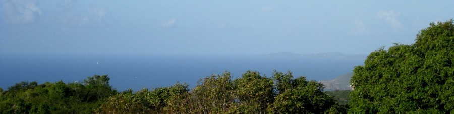 We can also see Puerto Rico from our house!  I am 99% certain that this is the island of Vieques!