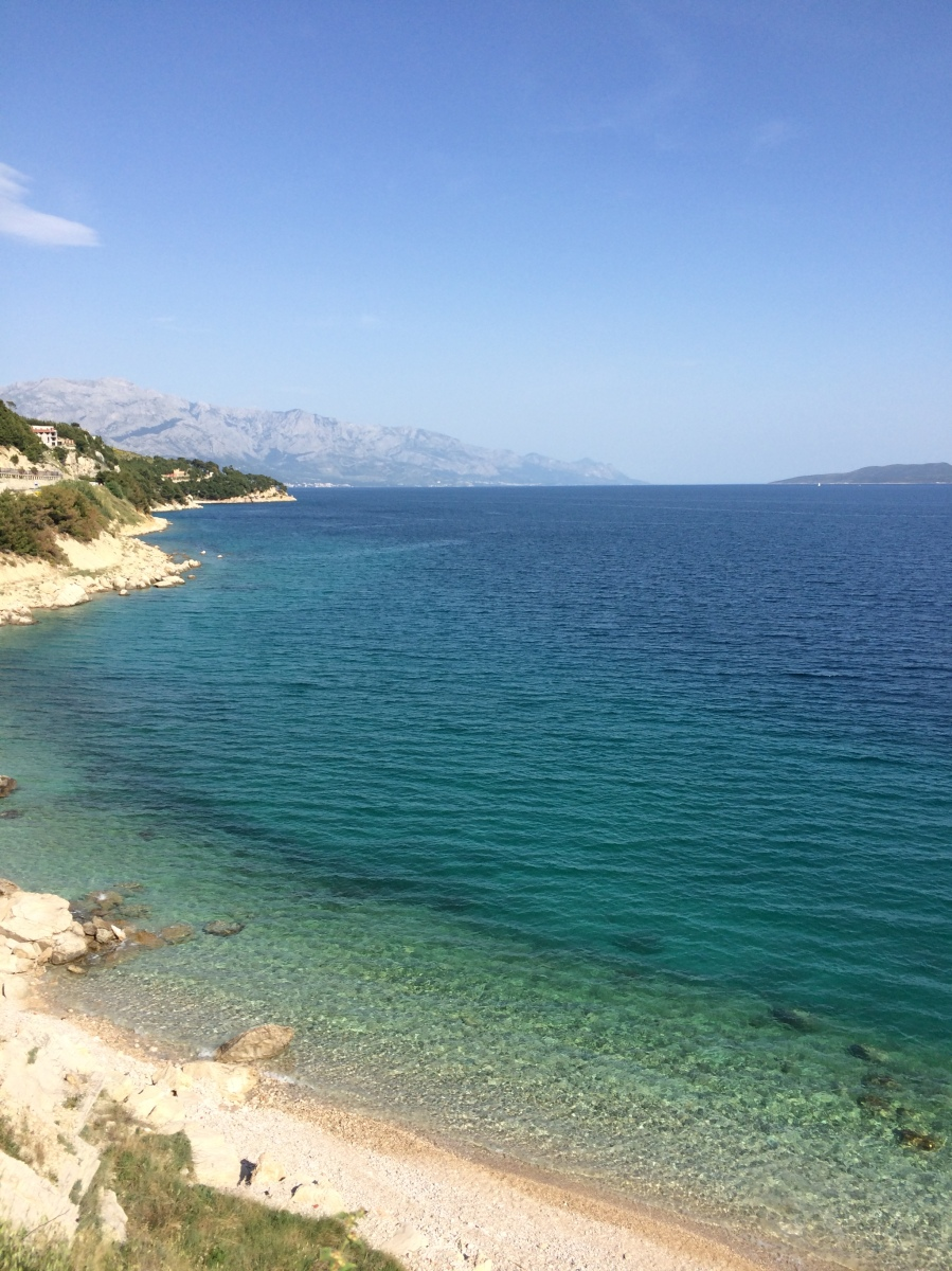 There are a 101 places to stop along the Dalmatian coast.  It's absolutely beautiful and we seemed to be there just before tourist season started in earnest.