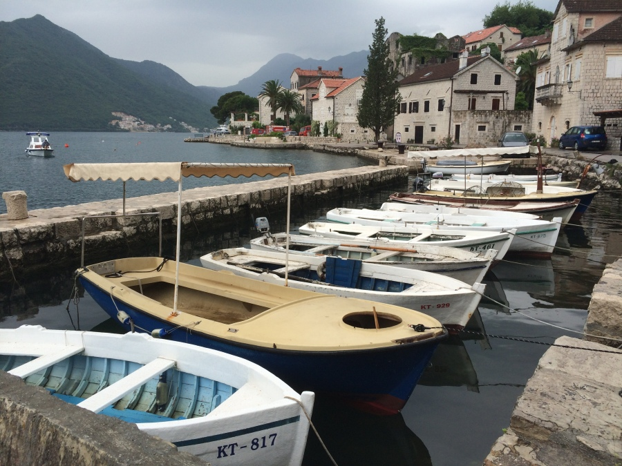 The Bay of Kotor is just a ninety minute drive south of Dubrovnik and only about thirty-forty-five minutes south of the border.  It's surrounded by the prettiest little villages!