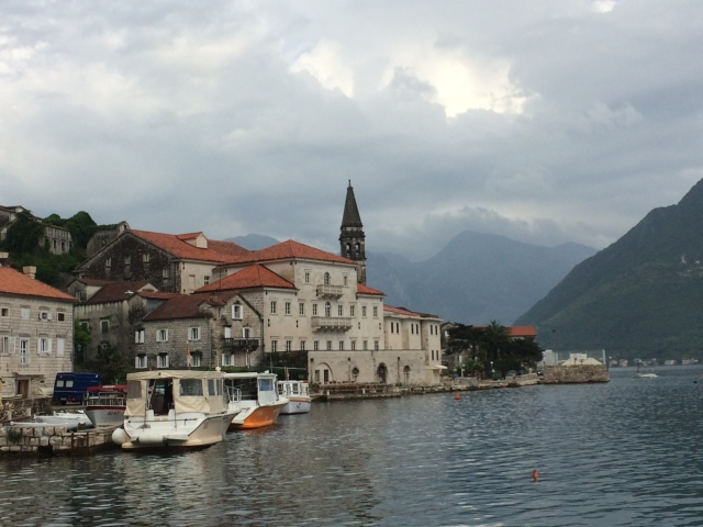 We walked along the Eastern shore of the Bay of Kotor until our feet were sore.